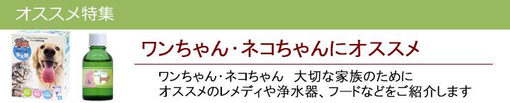 ワンちゃん・ネコちゃんにオススメ|レメディコムセレクト